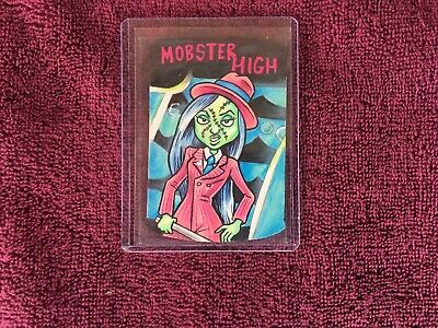 wacky packages sketch card 1/1 mobster high