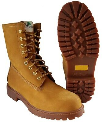 cb7c4b58ba9 RHINO 81M28 MENS Brown Leather 8 Inch Soft Toe Lace Up Work Boots ...