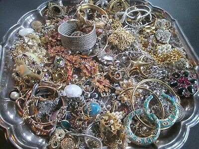 HUGE! Vintage to Now JUNK DRAWER Estate Find Jewelry Lot UNSEARCHED Wear Resell