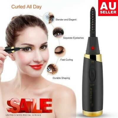 2019 Electric Heated Eyelash Curler Extension Eyecurl II Hot Brush BLACK AU