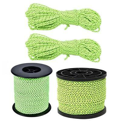 20m/50m Reflective Guyline Outdoor Camping Tent Rope Runners Guy Line Cord P4PM