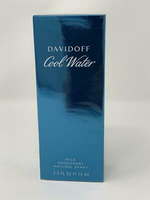Cool Water By Davidoff Cologne Mild Deodorant 2.5 oz Spray For Men New