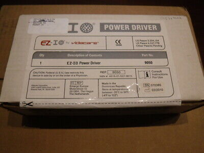 New unopened Vidacare 9050 EZ 10 Power Driver lithium ion drill Intraosseous