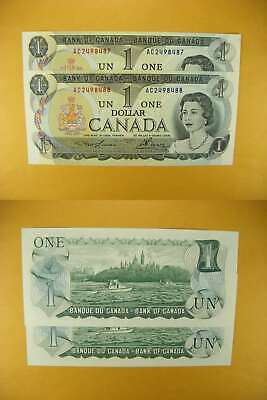 3234 Canada Lot of 2 1973 $1 GemUNC Consecutive