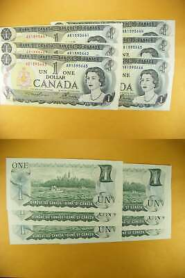 3239 Canada Lot of 6 1973 $1 GemUNC Consecutive