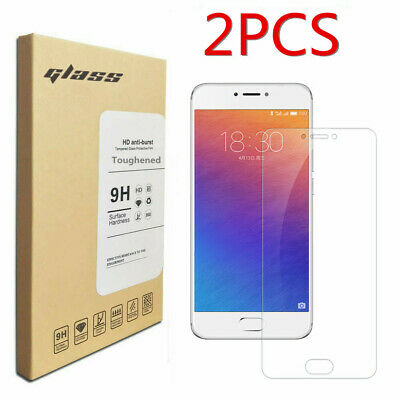 2Pcs Clear Tempered Glass Cover Film Toughened Screen Protector For Meizu Pro 6
