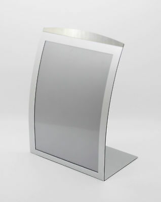 8.5x11 Silver Curved Sign Holder Metel Picture Frame Magnetic Photo Frame