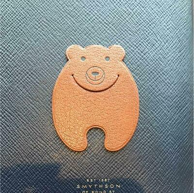 HERMES Pikabook  Bookmark Bear Brown Leather From Japan F/S