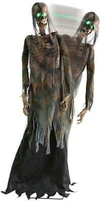 VIDEO! Halloween LIFE SIZE ANIMATED TWITCHING ZOMBIE Outdoor Prop HAUNTED SPIRIT
