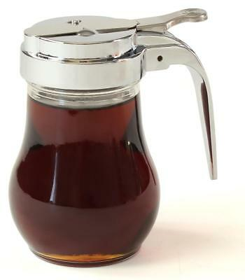 6OZ Glass Maple Syrup Pourer Honey Pitcher Pourer syrup Dispenser Restaturant