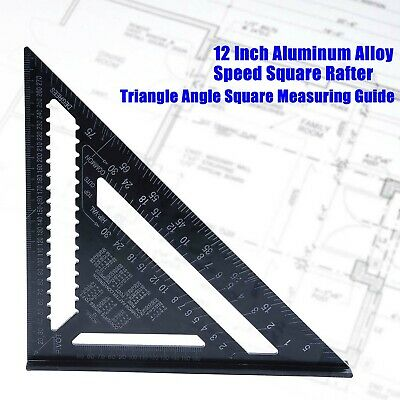 Building Speed Triangle Inch Miter Square System 12'' Protractor Rafter Tool