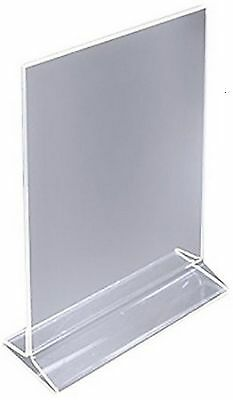 4 x 5 Acrylic Sign Holder for Tabletops, Top Insert, T-style - Clear 19015