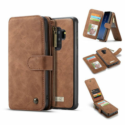 For Samsung Galaxy S8 S9 Plus Note8 9 S7 Leather Wallet Case Magnetic Removable