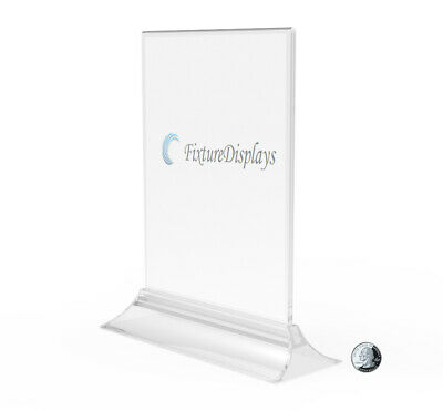8.5 x 11 Sign Holder for Tabletops, Top Insert, Double-sided - Clear 19026