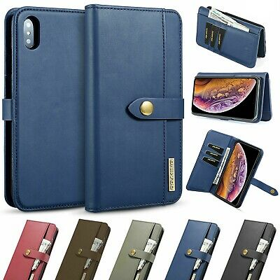 Removable Magnetic Flip Leather Wallet Case For iPhone X 8 7 6s Plus XS Max XR