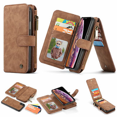 For Samsung Galaxy S10 Plus Lite Leather Purse Wallet Case Magnetic Removable