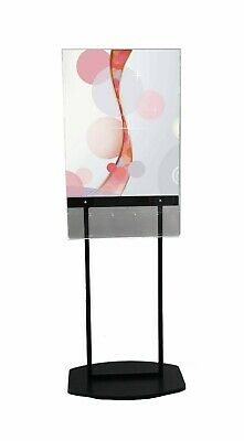 Acrylic Poster Stand with 5 Pocket Brochure Rack,Removable Dividers-Black 119050