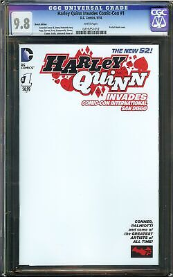 Harley Quinn Invades Comic-Con #1 CGC 9.8 PARTIAL BLANK Cover Sketch Variant DC