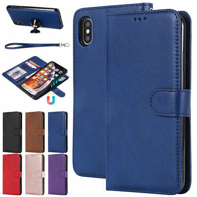 For iPhone XS Max X XR 6S 7 8 Plus Detachable Leather Wallet Case Purse Cover