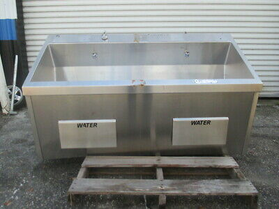 Skytron SS2122-MK Dual Bay Surgical Wash Scrub Sink Stainless Steel