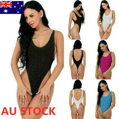 Women Sheer Lingerie Leotard Bikini Bodysuit Thong Monokini Swimwear Beachwear L