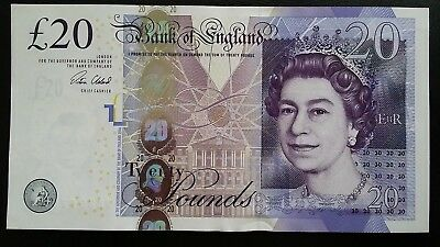 GREAT BRITAIN £20 Pounds 2015 P392c Cleland UK Bank of England aUNC Banknote