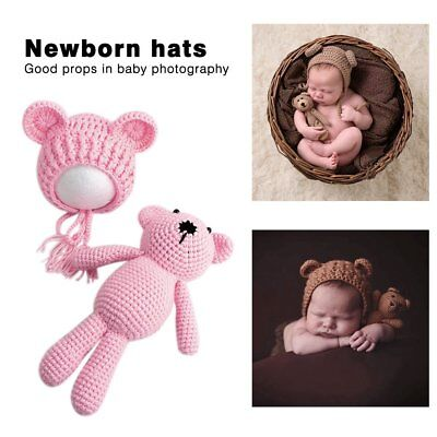 Newborn Baby Boy Girl Photography Prop Outfit Photo Knit Crochet Clothes UG