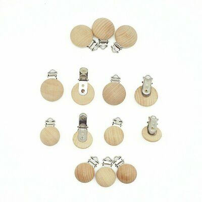 Wooden Soother Clip Nursing Accessories Beech Pacifier Clips Chewable b9