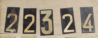 vintage French Sports Scoreboard Metal number Plates printed steel plaques