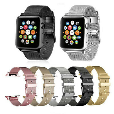 Milanese Loop Stainless Steel Strap Band buckle for Apple Watch Series 4/3 /2 /1