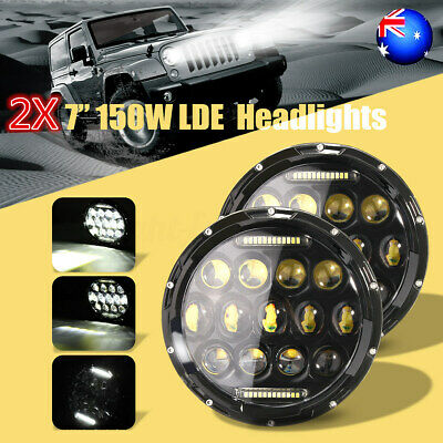 7 inch LED Headlight Projector DRL Driving Lamp For Jeep Wrangler Motorcycle AU