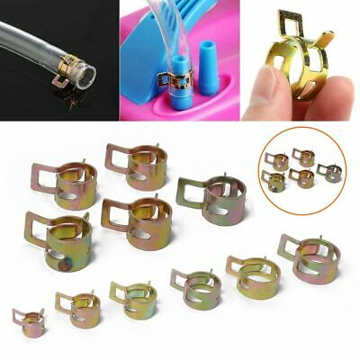 10Pcs Petrol Pipe Clips Spring Steel for Motorcycle etc to Secure Fuel Hose New