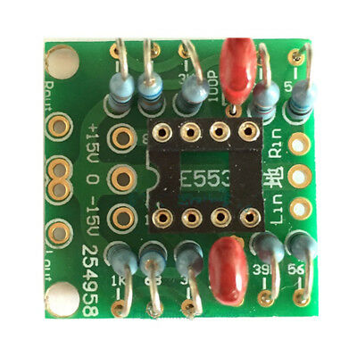 Dual OP Amp Board Preamp DC Amplification PCB for NE5532/OPA2134/OPA2604/AD826