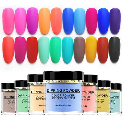 Matte Wetting Nail Art Dipping Powder Scrubing Glitter Acrylic Manicure Tips