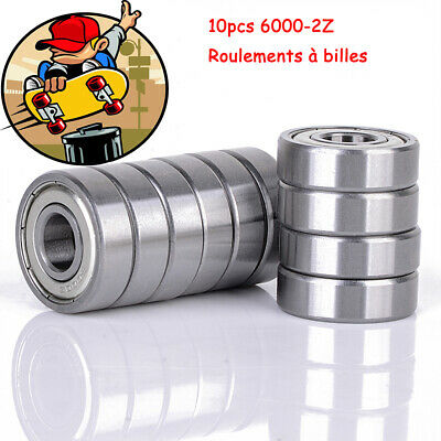 10Pcs 6000Z Steel Metal Sealed Shielded Deep Groove Ball Bearing 10 x 26 x 8mm
