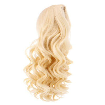 28cm Lovely Long Curly Wig Clothes Accessory for 18inch American Doll Gold