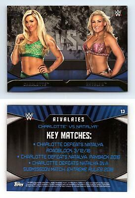 Charlotte / Natalya #13 WWE Then Now Forever 2016 Topps Rivalries Card