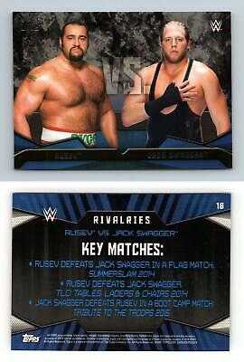 Rusev / Jack Swagger #18 WWE Then Now Forever 2016 Topps Rivalries Card
