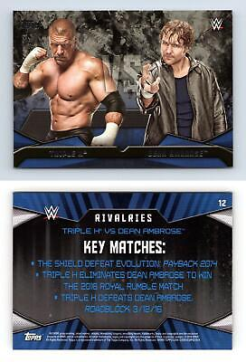 Triple H / Dean Ambrose #12 WWE Then Now Forever 2016 Topps Rivalries Card
