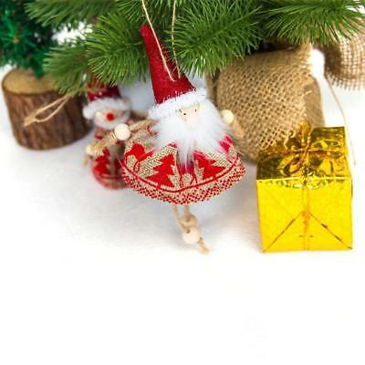 Cute Christmas Tree Hanging Santa Claus Bells Decor Xmas Party Wedding Ornament