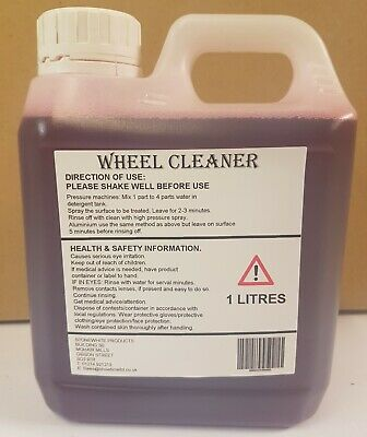 X 1L Devils Blood Car Paint Alloy Wheel Cleaner Iron Remover Contaminent Fall