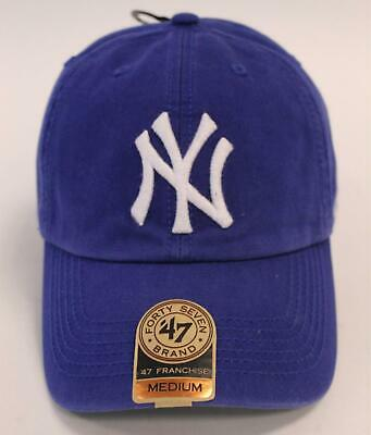 d901c3097c1c17 '47 Brand Unisex New York Yankees MLB '47 Franchise Cap SH3 Blue Medium NWT  '