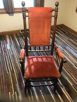 Antique 1880s Victorian Eastlake/Hunzinger Design Platform ROCKER Rocking Chair