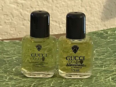 RARE Authentic Vintage GUCCI Miniature Perfume & Aftershave 7.5 ml .25 fl. oz