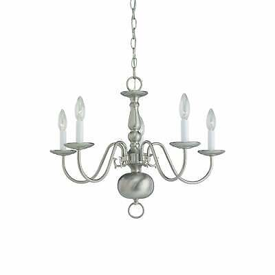 Sea Gull Traditional 5-light Brushed Nickel Chandelier