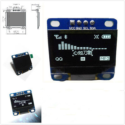 "0.96"" I2C IIC SPI Serial 128X64 White OLED LCD LED Display Module for Arduino DI"
