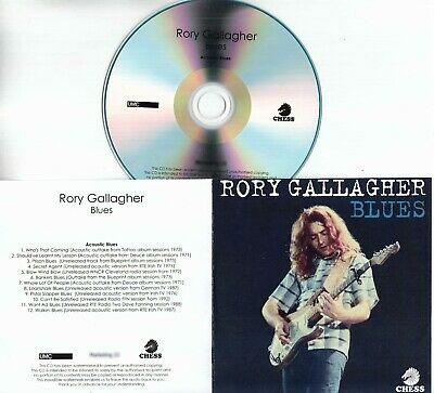 RORY GALLAGHER Blues 2019 UK 36-trk numbered promo 3-CD + press release