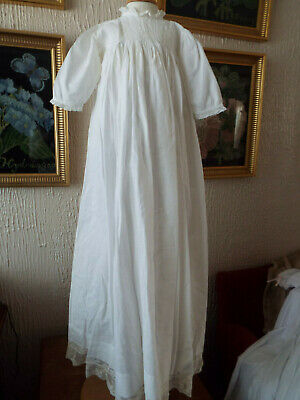 Vintage Baby Christening Gown/Lace Trimmed