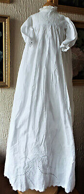 Antique Embroidered Baby Christening Gown