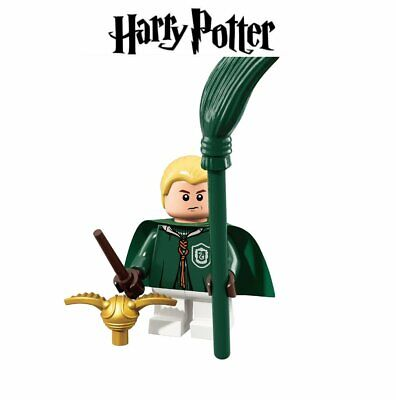 Draco Malfoy + baguette magique + balai + vif d'or Quidditch Harry Potter